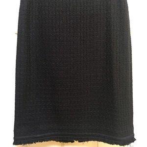 J. Crew black fringe skirt